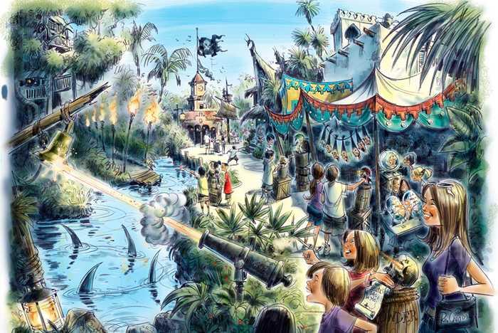 A Pirate's Adventure - Treasures of the Seven Seas concept art