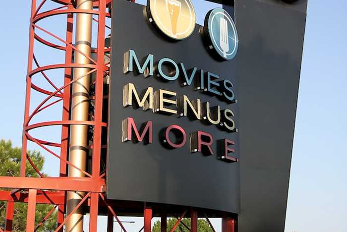 New 'Dine In Theaters' signage