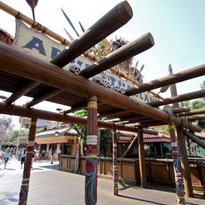 2 of 7: Adventureland - Closeup of the all new wood structure
