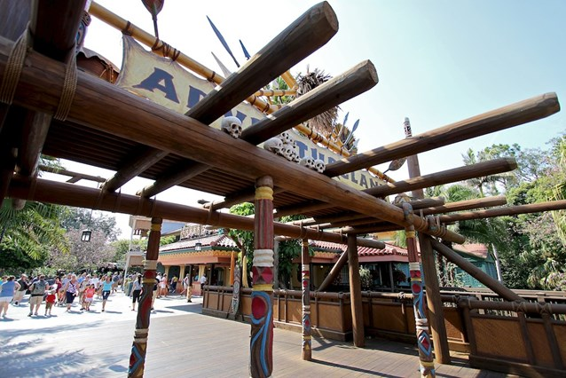 Adventureland - Closeup of the all new wood structure