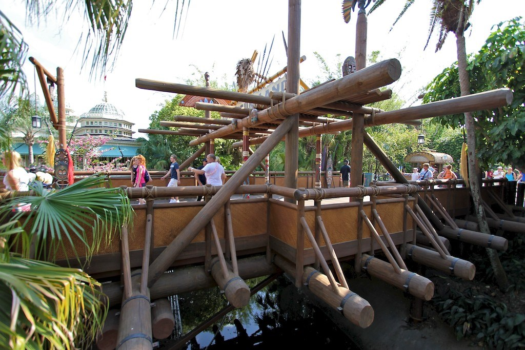 Adventureland bridge refurbishment