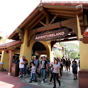 3 of 3: Adventureland - Adventureland entrance refurbishment complete
