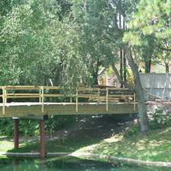 Adventureland bridge construction