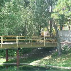 Adventureland bridge construction