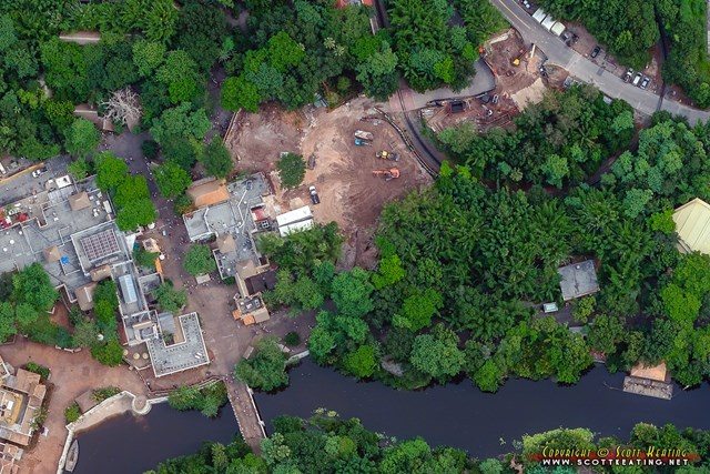 Aerial view of the cleared land in Harambe