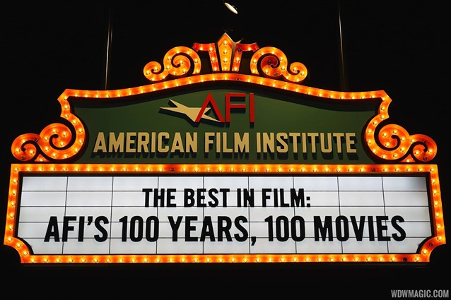 American Film Institute Showcase - American Film Institute exhibit - 100 years signage