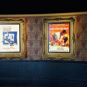 8 of 32: American Film Institute Showcase - American Film Institute exhibit - North by Northwest and Gone with the Wind posters