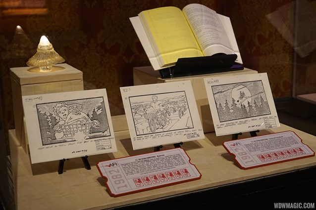 American Film Institute Showcase - American Film Institute exhibit - E.T. storyboards