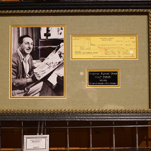 27 of 32: American Film Institute Showcase - American Film Institute exhibit - The Showcase Shop  Walt Disney signed piece