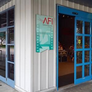 31 of 32: American Film Institute Showcase - American Film Institute exhibit - Exit and entrance to The Showcase Shop