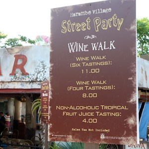 4 of 27: Disney's Animal Kingdom - Harambe Village Wine Walk pricing