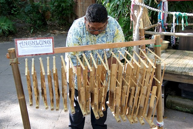 Disney's Animal Kingdom - Indonesian traditional instruments