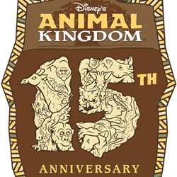 Disney's Animal Kingdom 15th anniversary logo