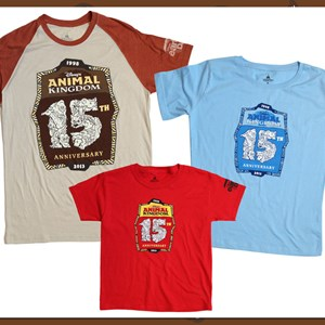 1 of 4: Disney's Animal Kingdom - Disney's Animal Kingdom 15th anniversary merchandise - T-Shirts