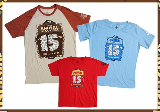 Disney's Animal Kingdom - Disney's Animal Kingdom 15th anniversary merchandise - T-Shirts