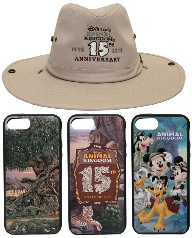 Disney's Animal Kingdom - Disney's Animal Kingdom 15th anniversary merchandise - Hat and iPhone cases