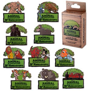 3 of 4: Disney's Animal Kingdom - Disney's Animal Kingdom 15th anniversary merchandise - Pins