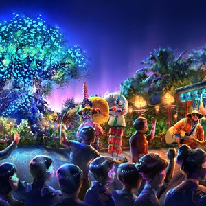 1 of 1: Disney's Animal Kingdom - Concept art of Disney's Animal Kingdom nighttime entertainment