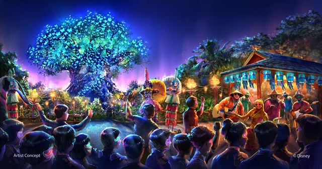 Concept art of Disney's Animal Kingdom nighttime entertainment