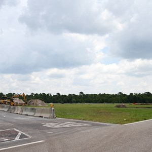 2 of 3: Disney's Animal Kingdom - Yeti Parking Lot construction at Disney's Animal Kingdom