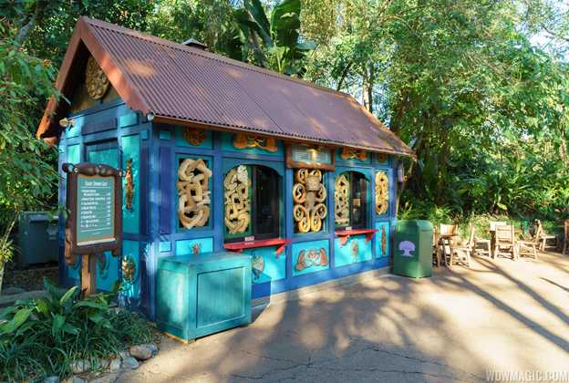 New look snack kiosks at Disney's Animal Kingdom