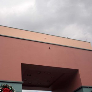 1 of 4: Animation Courtyard - Disney-MGM Studios signage removed from the Animation Courtyard Arch