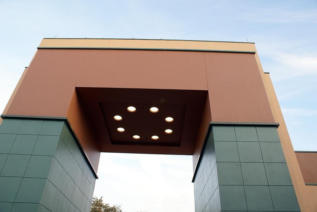 Animation Courtyard Arch nearing completion