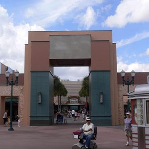 1 of 1: Animation Courtyard - ESPN logo removed on Animation Arch