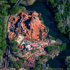 1 of 3: Big Thunder Mountain Railroad - Big Thunder Mountain Railroad refurbishment aerial view