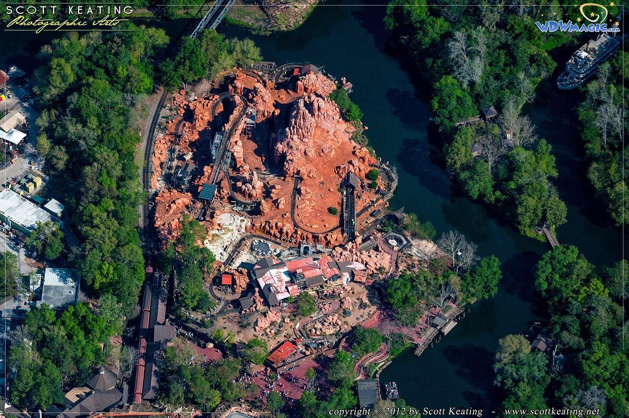 Big Thunder Mountain Railroad refurbishment aerial view