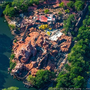 1 of 1: Big Thunder Mountain Railroad - Big Thunder Mountain Railroad refurbishment aerial view