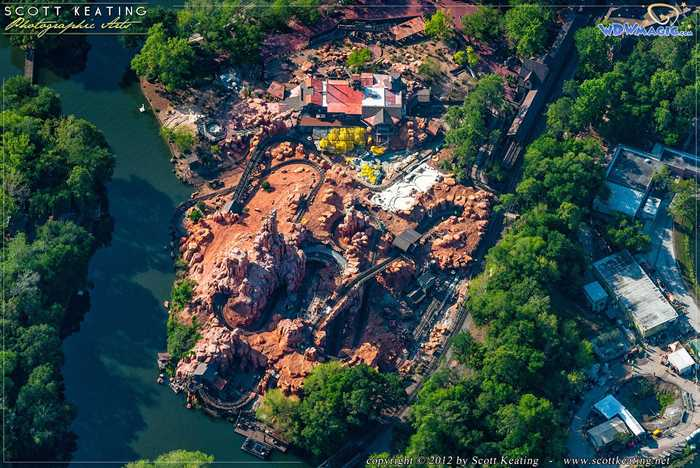 Big Thunder Mountain Railroad refurbishment aerial view