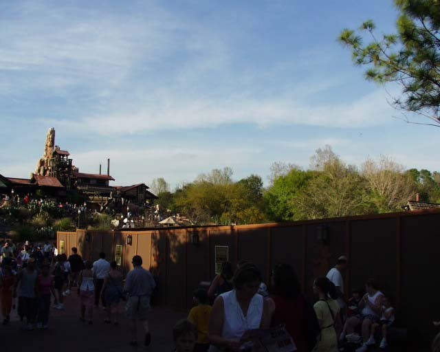 FASTPASS construction at Big Thunder Mountain