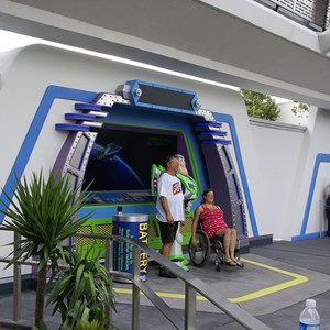 2 of 2: Buzz Lightyear's Space Ranger Spin - Buzz Lightyear meet and greet complete