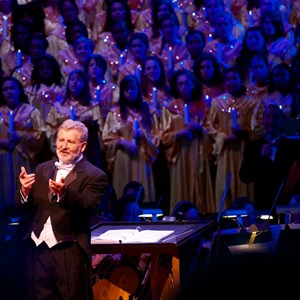 3 of 7: Candlelight Processional - Conductor at the Candlelight Processional
