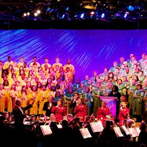 5 of 7: Candlelight Processional - Whoopi Goldberg and choir at the Candlelight Processional