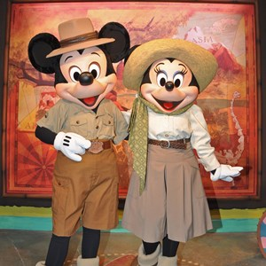 1 of 1: Character Meet and Greets at Disney's Animal Kingdom - Mickey and Minnie at the Adventurers Outpost