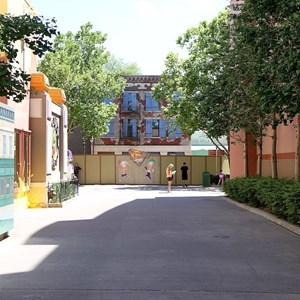 1 of 3: Character Meet and Greets at Disney's Hollywood Studios - Phineas and Ferb meet and greet construction