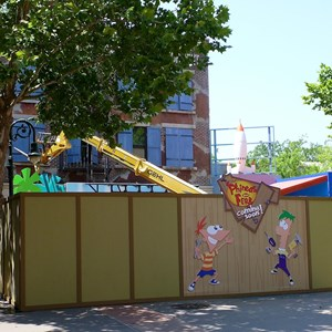 2 of 3: Character Meet and Greets at Disney's Hollywood Studios - Phineas and Ferb meet and greet construction