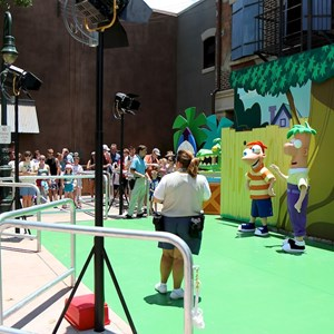 7 of 8: Character Meet and Greets at Disney's Hollywood Studios - Phineas and Ferb meet and greet