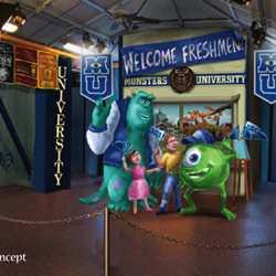 Monsters University Student Union concept art