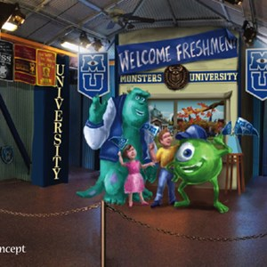 1 of 1: Character Meet and Greets at Disney's Hollywood Studios - Monsters University Student Union concept art