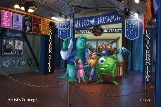 Monsters University Student Union concept art