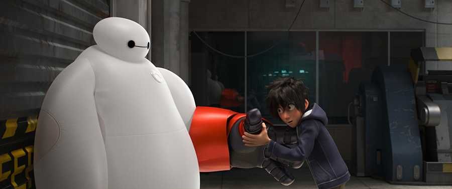 Hiro and Baymax from Big Hero 6
