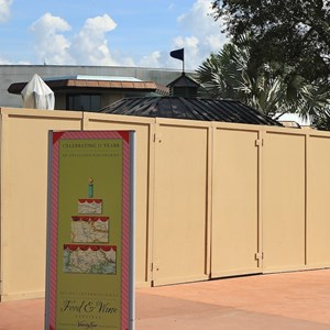 2 of 2: Character Meet and Greets at Epcot - Duffy Meet and Greet construction