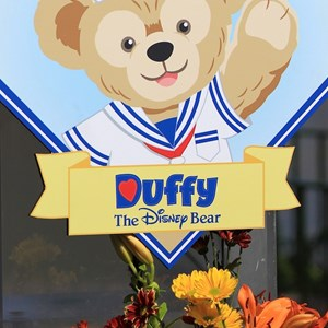 1 of 44: Character Meet and Greets at Epcot - Duffy signs everywhere on opening day at Epcot's World Showcase