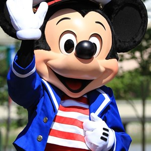 13 of 44: Character Meet and Greets at Epcot - Sailor Mickey joins the festivities