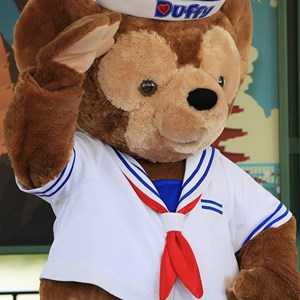 17 of 44: Character Meet and Greets at Epcot - Duffy Meet and Greet opening ceremony
