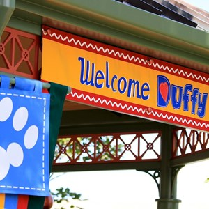 19 of 44: Character Meet and Greets at Epcot - Duffy Meet and Greet opening ceremony