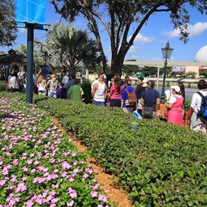 22 of 44: Character Meet and Greets at Epcot - The area has a very well integrated queue